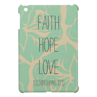 Faith Hope Love Bible Verse Vintage Floral iPad Mini Covers