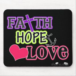 Faith Hope Love (black) Mouse Pad