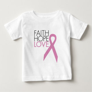 Faith, Hope, Love - Breast Cancer Support Baby T-Shirt