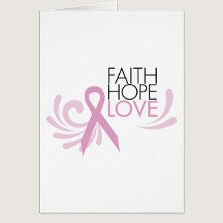 Faith, Hope, Love - Breast Cancer Support Card