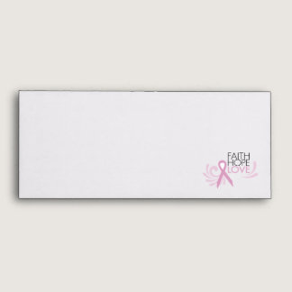 Faith, Hope, Love - Breast Cancer Support Envelope