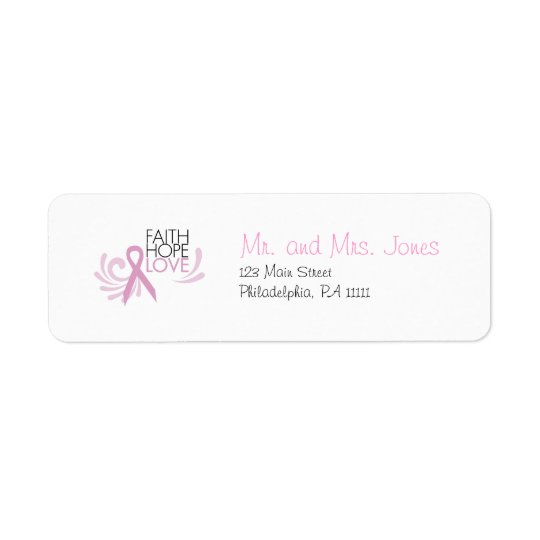 faith hope love breast cancer support label
