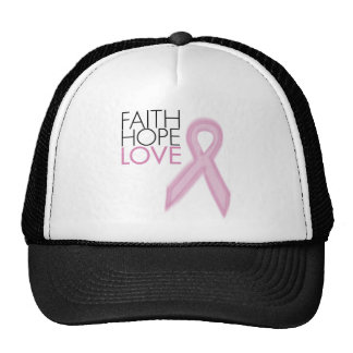 Faith, Hope, Love - Breast Cancer Support Trucker Hat