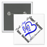 Faith Hope Love Butterfly - ALS Awareness Button