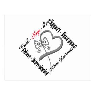 Faith Hope Love Butterfly - Asthma Awareness Postcards