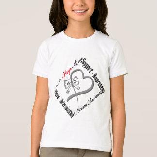 Faith Hope Love Butterfly - Asthma Awareness T-Shirt