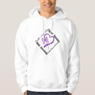 Faith Hope Love Butterfly - Crohns Disease Hooded Pullovers
