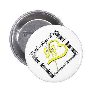 Faith Hope Love Butterfly Endometriosis Awareness 2 Inch Round Button