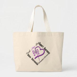Faith Hope Love Butterfly - Fibromyalgia Awareness Canvas Bags