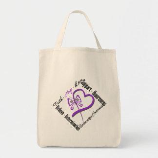 Faith Hope Love Butterfly - Fibromyalgia Awareness Canvas Bag
