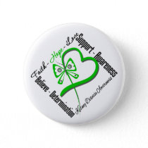 Faith Hope Love Butterfly - Kidney Disease Button