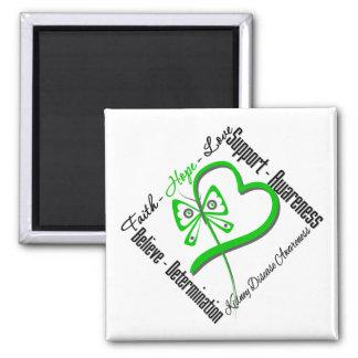 Faith Hope Love Butterfly - Kidney Disease Magnet