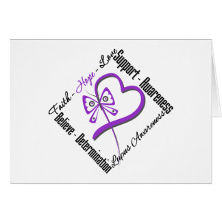 Faith Hope Love Butterfly - Lupus Awareness Greeting Card
