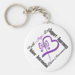 Faith Hope Love Butterfly - Lupus Awareness Keychains