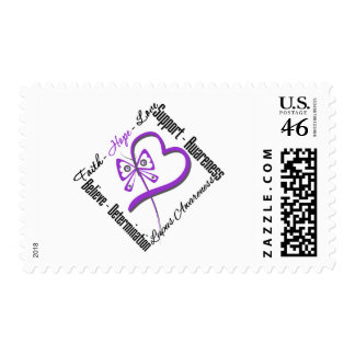 Faith Hope Love Butterfly - Lupus Awareness Postage Stamps