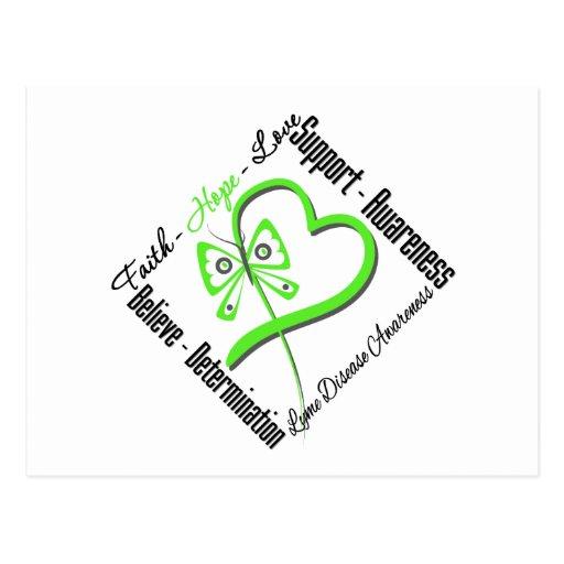 Faith Hope Love Butterfly - Lyme Disease Postcard