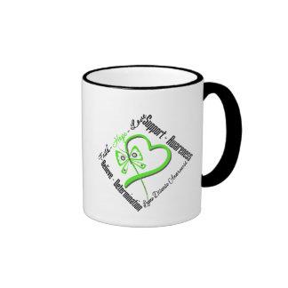 Faith Hope Love Butterfly - Lyme Disease Ringer Mug