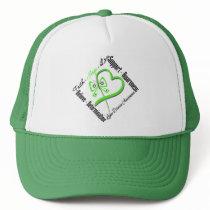 Faith Hope Love Butterfly - Lyme Disease Trucker Hat