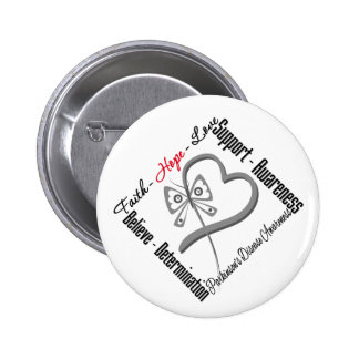 Faith Hope Love Butterfly - Parkinsons Disease 2 Inch Round Button