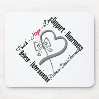 Faith Hope Love Butterfly - Parkinsons Disease Mouse Pad