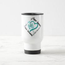 Faith Hope Love Butterfly - PKD Awareness Travel Mug