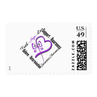 Faith Hope Love Butterfly - Sarcoidosis Awareness Stamp