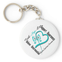 Faith Hope Love Butterfly Tourette Syndrome Keychain