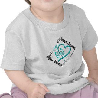 Faith Hope Love Butterfly Tourette Syndrome Tee Shirts