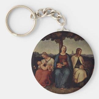 Faith Hope Love By Hess Heinrich Maria Von Key Chains