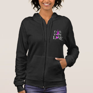 FAITH HOPE LOVE Cancer Awareness Sleeveless Hoodie