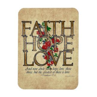 Faith Hope Love Christian Bible Verse Magnet