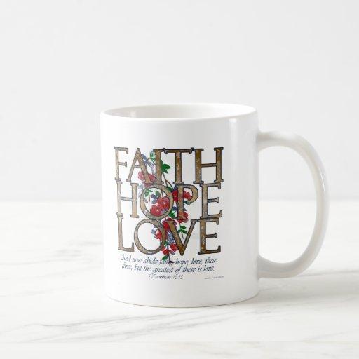 Faith Hope Love Christian Bible Verse Mug