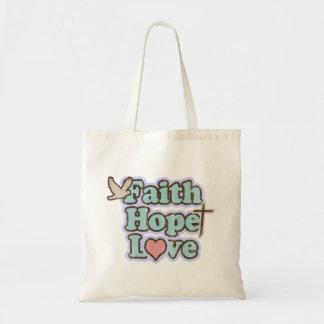 Faith Hope Love Christian Tote Bag