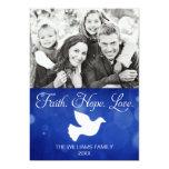 Faith Hope Love Christmas Dove Photo Card