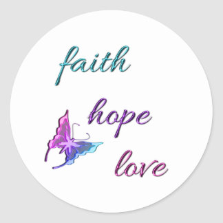Faith Hope Love Classic Round Sticker