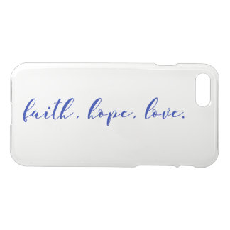 Faith Hope Love Clear iPhone Case