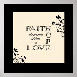 Faith Hope Love Connected Print