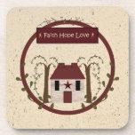 Faith Hope Love Cork Coaster