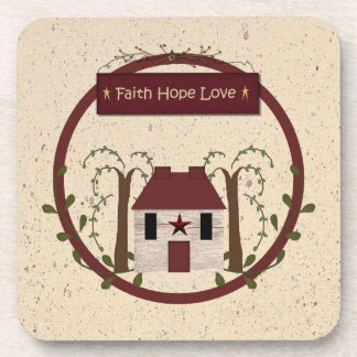 Faith Hope Love Cork Coaster