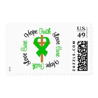 Faith Hope Love Cure Cross Traumatic Brain Injury Postage Stamp