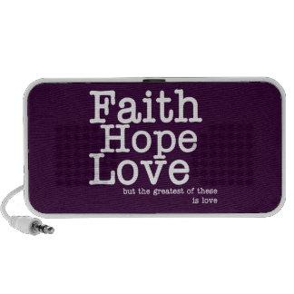 Faith Hope Love Doodle Notebook Speakers