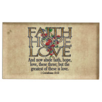 Faith Hope Love Elegant Bible Scripture Christian Table Number Holder