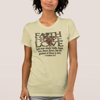 Faith Hope Love Elegant Bible Scripture Christian Tee Shirt