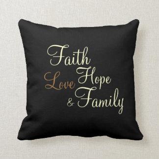 Faith Hope Love Family - Pillow