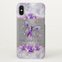Faith, Hope, Love Fibromyalgia Awareness iPhone X Case