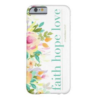 Faith Hope Love   Floral iPhone 6/6s Phone Case