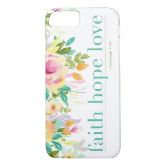 Faith Hope Love   Floral iPhone 7 Phone Case