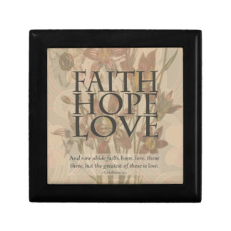 Faith,Hope,Love Trinket Boxes