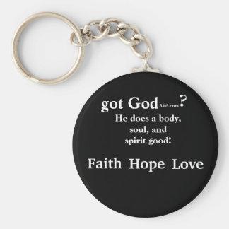 faith hope love gotGod316.com key chain