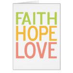 Faith Hope Love Greeting Card Simple Design